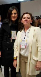 Ivonne Forero, Coordinadora del Programa Colombia Nos Une junto a Gladys Noreña, multiplicadora del programa en Nueva York